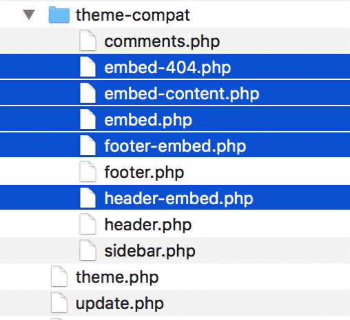 Embed template files